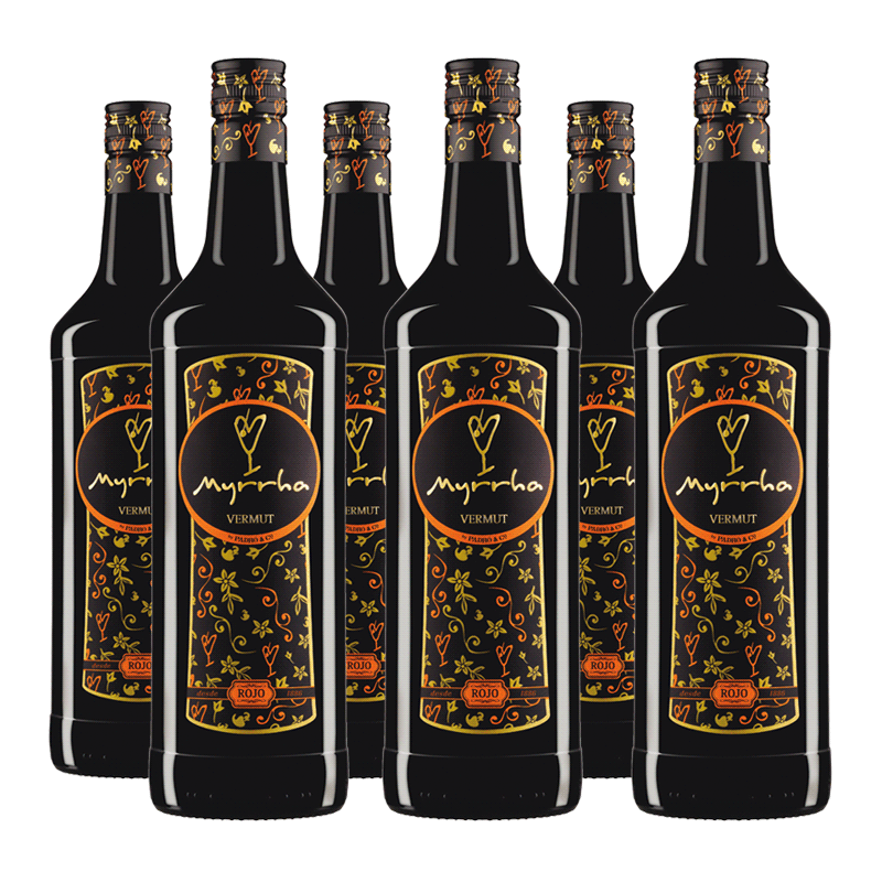 6 ampolles Vermut Myrrha Rojo