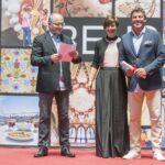 Daniel Padró - Eva Vicens - Toni Albà als Premis Vinari dels Vermuts Catalans 2017