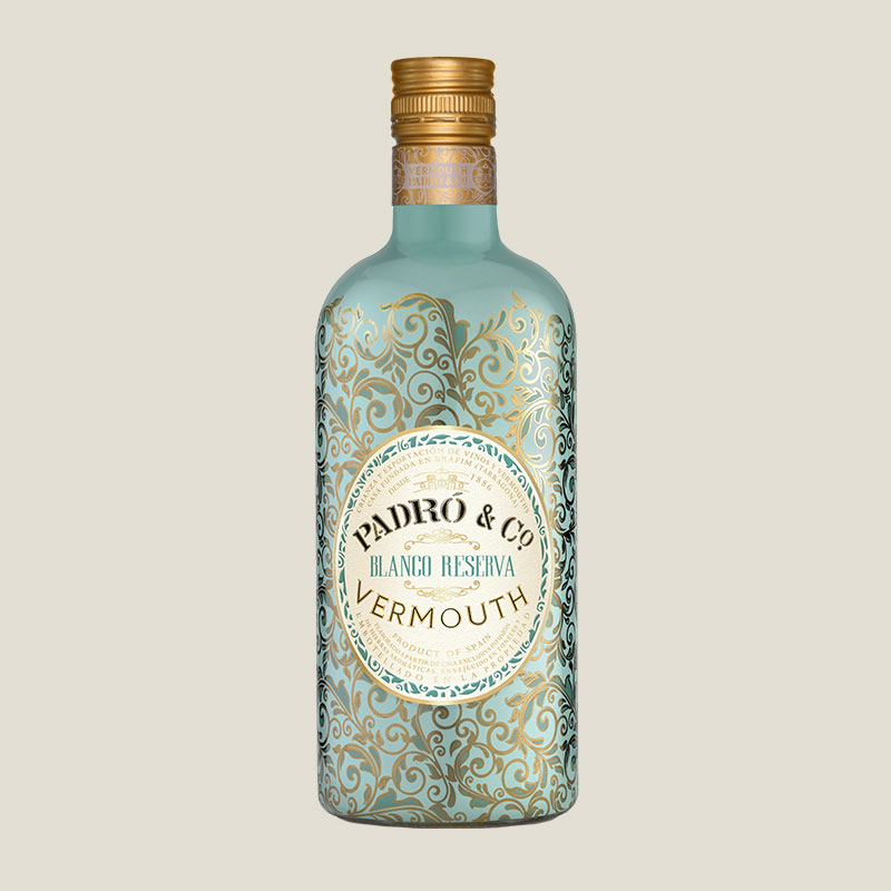Botella de Vermouth Padró & Co. Blanco Reserva
