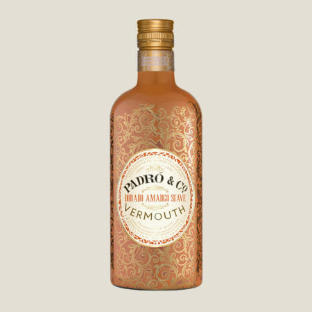 Botella  de Vermouth Padró & Co. Dorado Amargo Suave