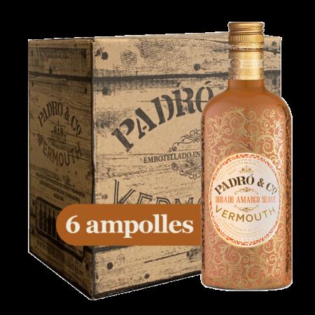 Caixa Vermouth Padró & Co. Dorado Amargo Suave 6 ampolles