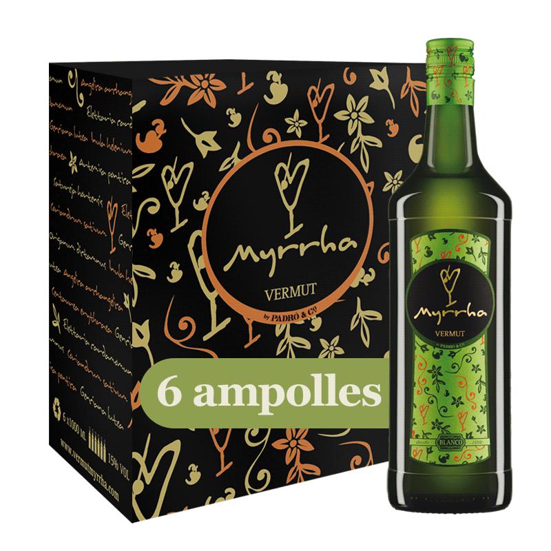 Caixa Vermut Myrrha Blanco 6 ampolles