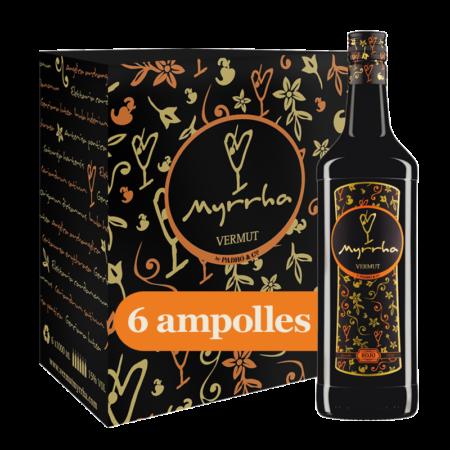 Caixa Vermut Myrrha Rojo 6 ampolles