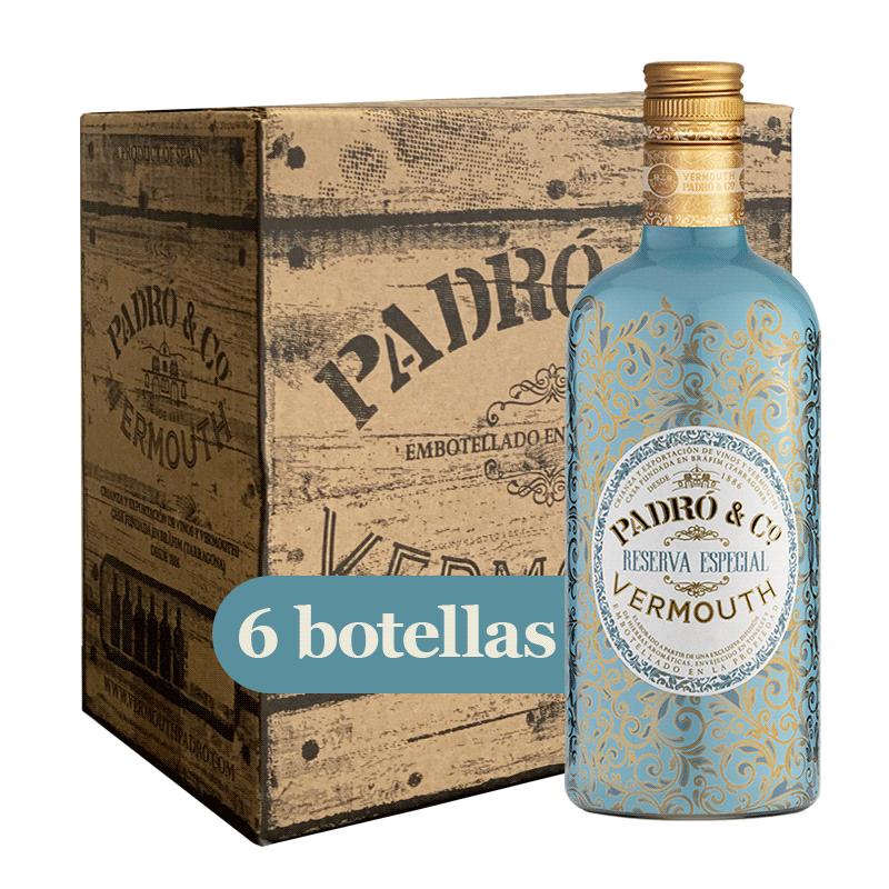 Caja Vermouth Padró & Co. Reserva Especial 6 botellas
