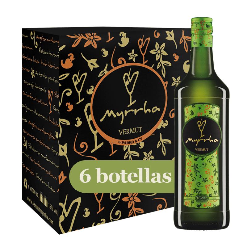 Caja Vermut Myrrha Blanco 6 botellas