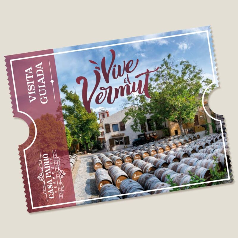 Cheque Regalo Visita Casa Vermouth Padró