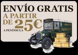 Envío gratis a partir de 25€ a Península